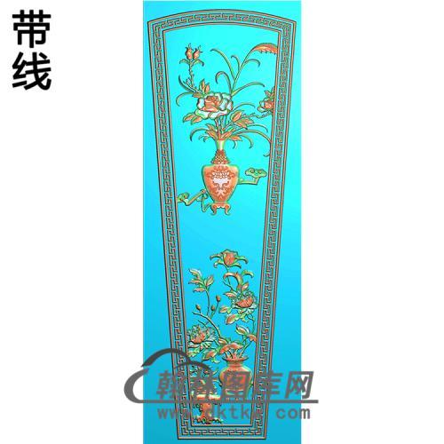 花瓶棺盖精雕图(GC-065)