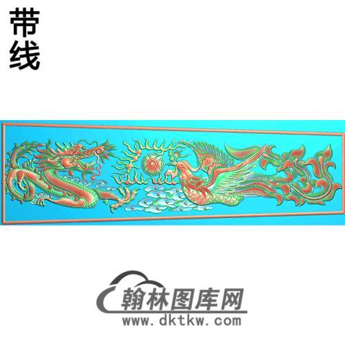 龙凤棺材盖精雕图(GC-066)