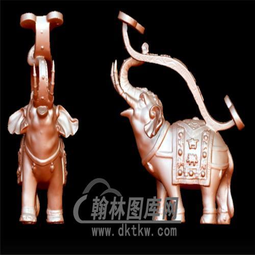 如意大象摆件立体圆雕图(YBF-033)