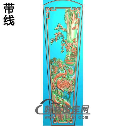 松鹤棺盖 精雕图(GC-088)