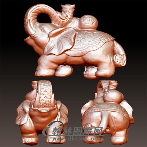 象立体圆雕图(YBF-036)