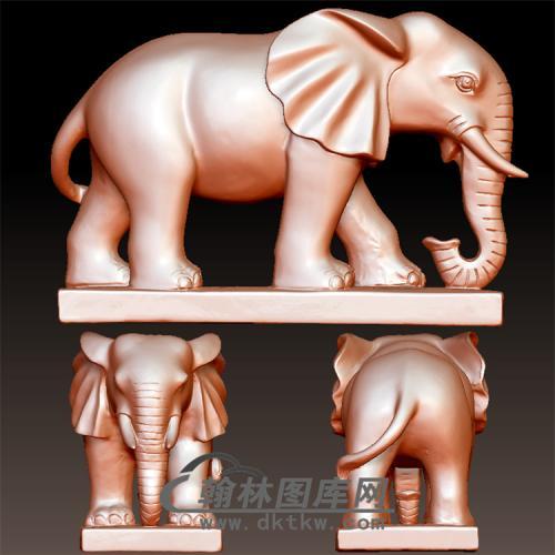 象立体圆雕图(YBF-037)