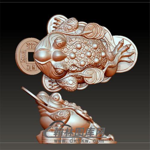 三足金蟾立体圆雕图(YJC-001)