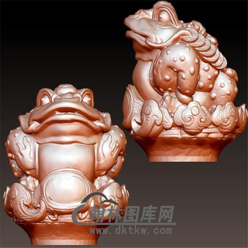 金蟾立体圆雕图(YJC-002)