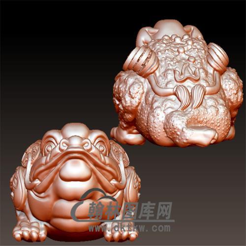 金蟾立体圆雕图(YJC-003)