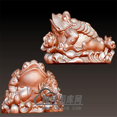 金蟾立体圆雕图(YJC-005)