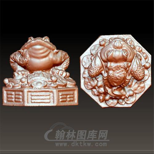 金蟾立体圆雕图(YJC-006)