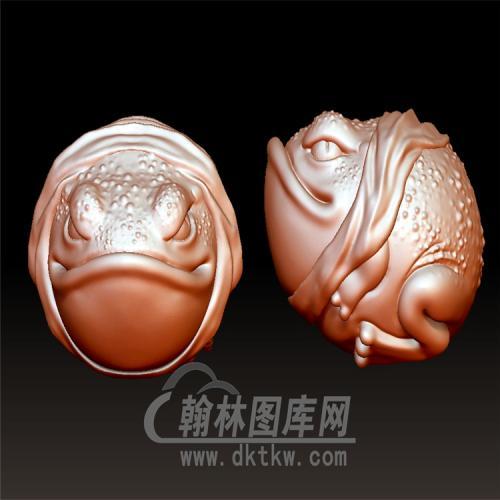 蟾蜍青蛙立体圆雕图(YJC-010)