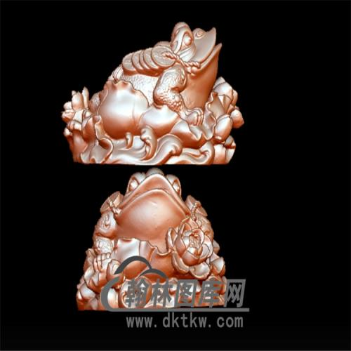 金蟾立体圆雕图(YJC-011)
