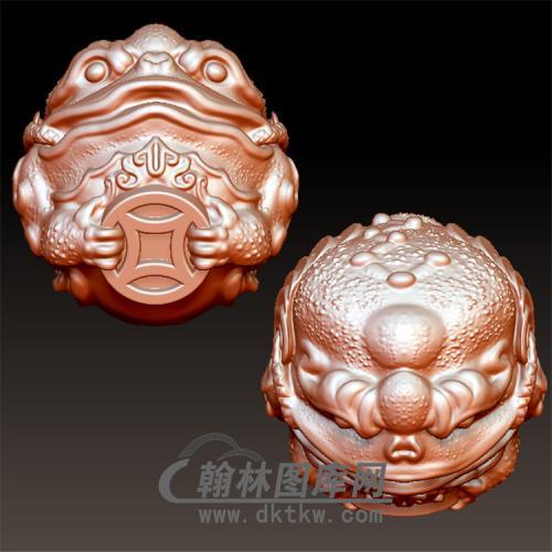 金蟾球立体圆雕图(YJC-013)