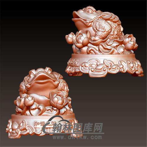 金蟾立体圆雕图(YJC-016)