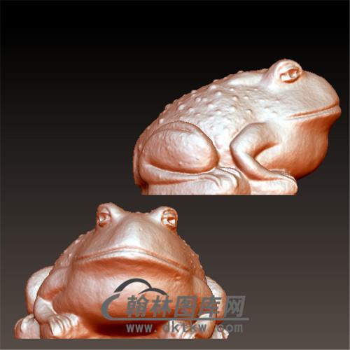 青蛙金蟾立体圆雕图(YJC-017)