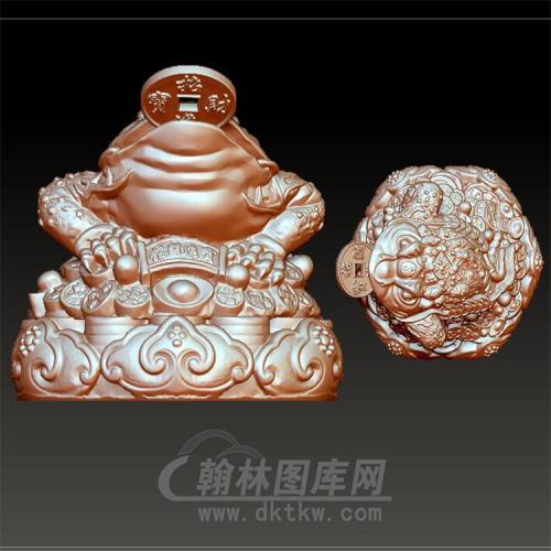 金蟾立体圆雕图(YJC-021)