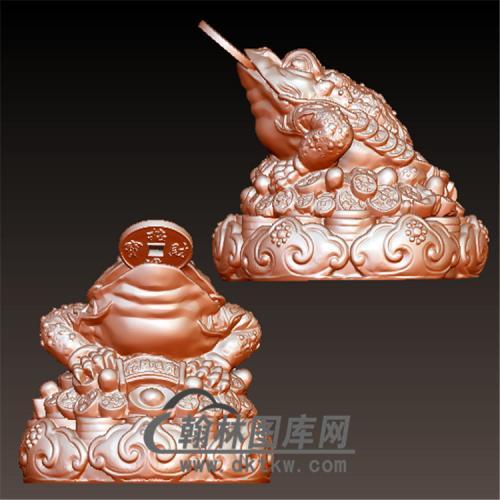 金蟾摆件立体圆雕图(YJC-022)