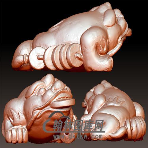小金蟾立体圆雕图(YJC-025)