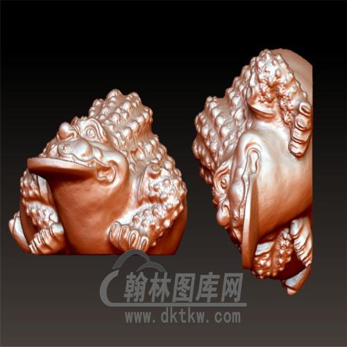 蟾蜍立体圆雕图(YJC-020)