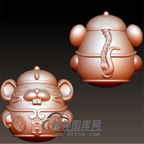 鼠你财立体圆雕图(YS-002)