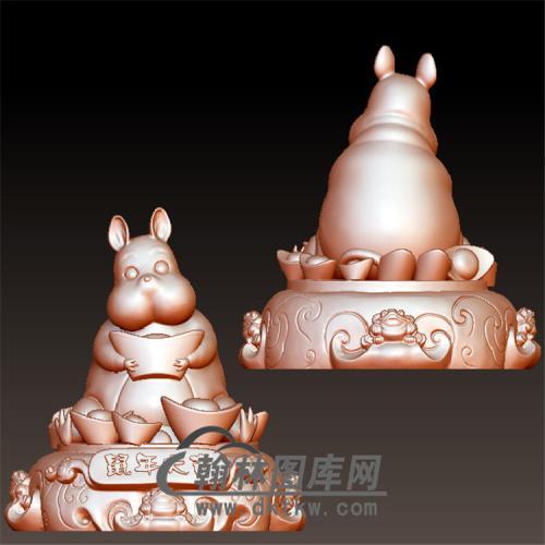 鼠年大吉元宝立体圆雕图(YS-007)