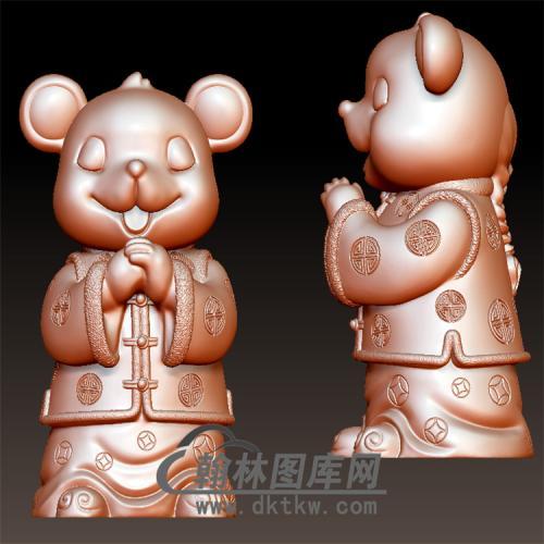 贺年鼠卡通老鼠立体圆雕图(YS-015)