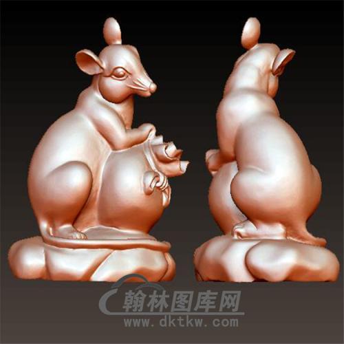 十二生肖鼠立体圆雕图(YS-016)