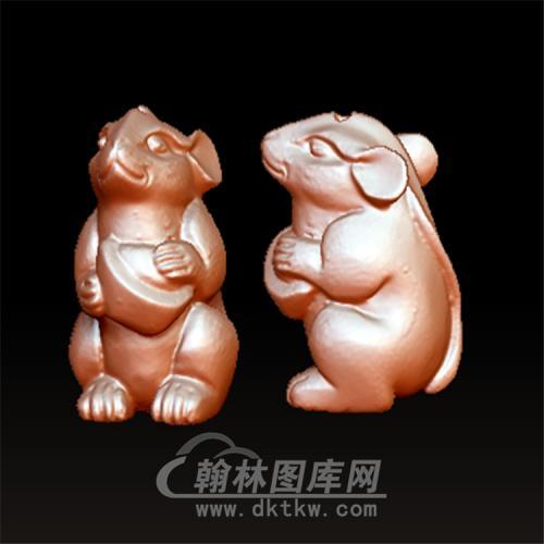 鼠元宝立体圆雕图(YS-018)