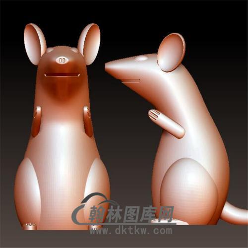 老鼠立体圆雕图(YS-024)