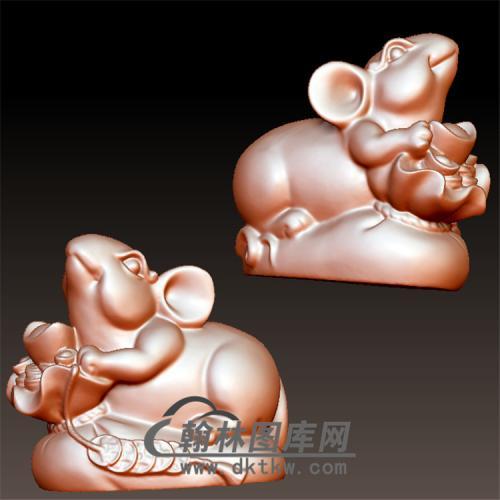 老鼠元宝立体圆雕图(YS-027)