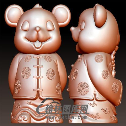 小财鼠立体圆雕图(YS-030)