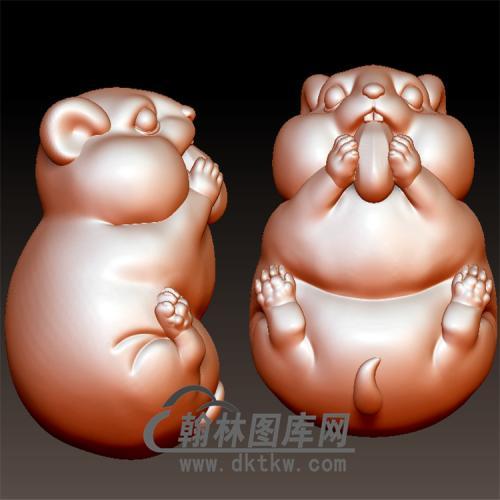 小仓鼠立体圆雕图(YS-031)
