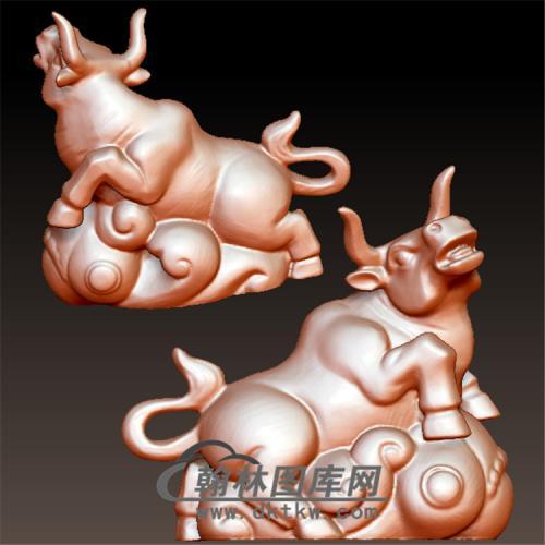 老牛立体圆雕图(YN-018)
