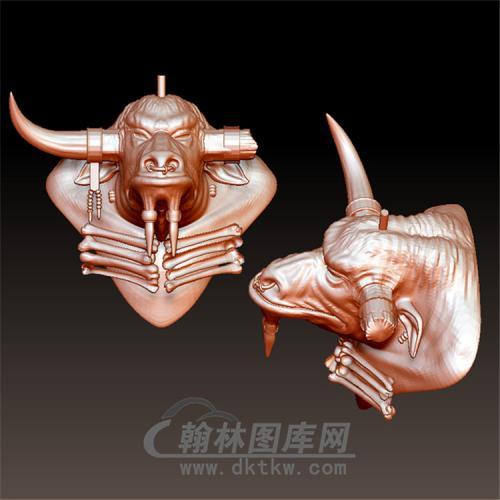 抽象牛头人立体圆雕图(YN-020)