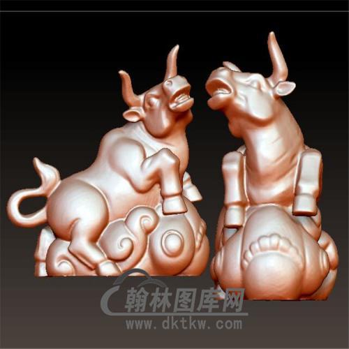 牛摆件立体圆雕图(YN-026)
