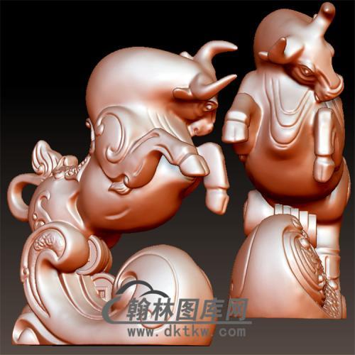 牛摆件立体圆雕图(YN-030)