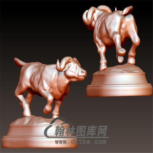 公牛雕塑立体圆雕图(YN-036)