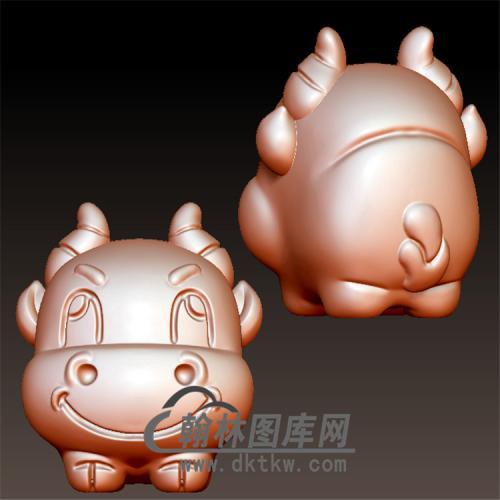 小牛立体圆雕图(YN-052)