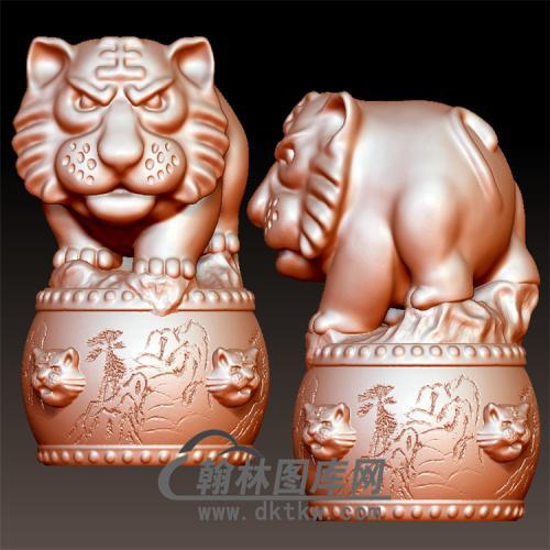 吉祥中国虎立体圆雕图(YHH-004)