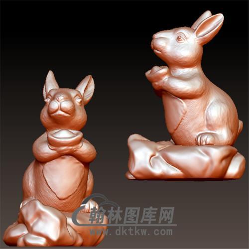 兔立体圆雕图(YT-001)