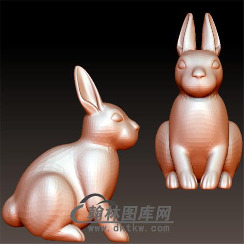 兔子立体圆雕图(YT-005)
