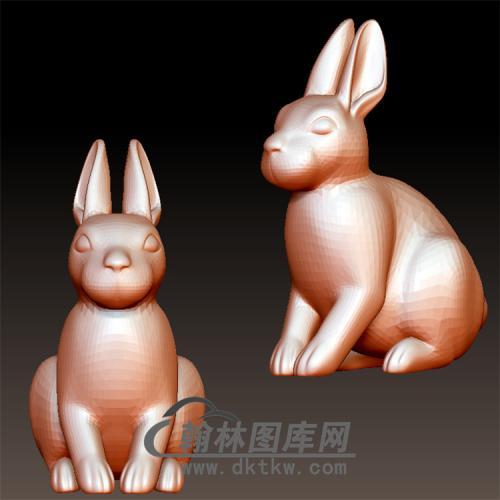 兔立体圆雕图(YT-004)