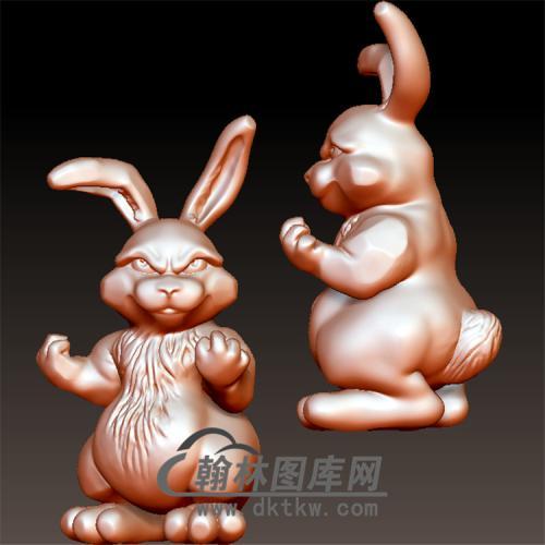 神气的小兔子立体圆雕图(YT-007)
