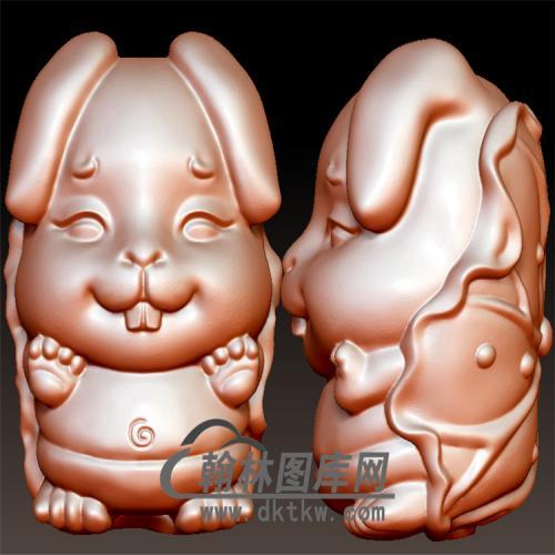 卡通兔子摆件立体圆雕图(YT-008)