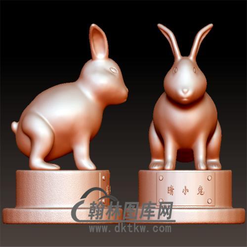 兔子立体圆雕图(YT-009)