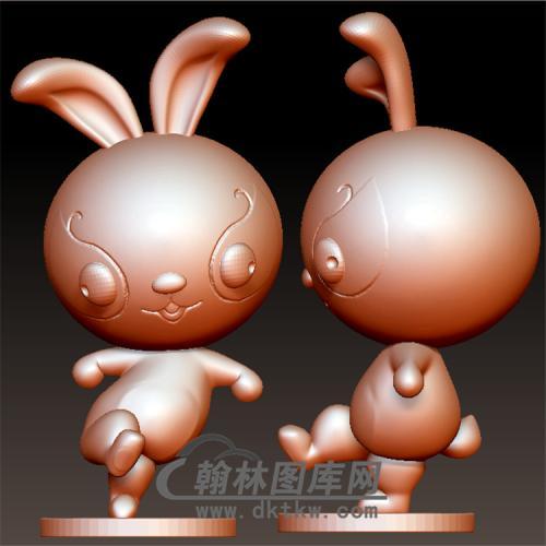 卡通生肖兔子立体圆雕图(YT-010)