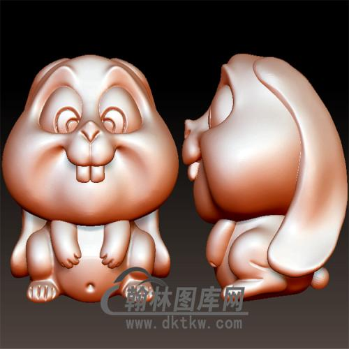 卡通兔子立体圆雕图(YT-011)