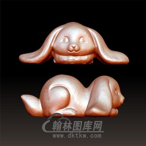 兔子立体圆雕图(YT-014)