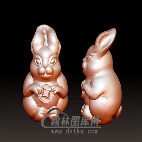 兔子立体圆雕图(YT-016)