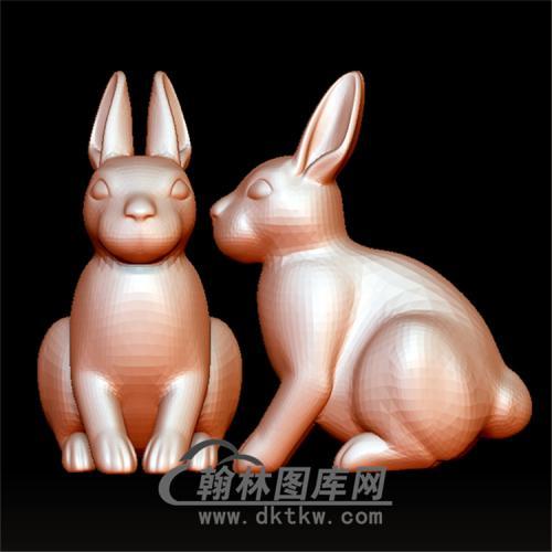 坐着的兔子立体圆雕图(YT-017)