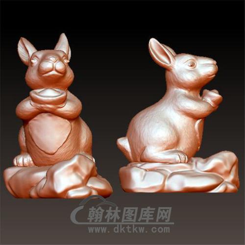 十二生肖兔立体圆雕图(YT-020)