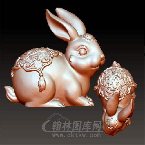 玉兔立体圆雕图(YT-023)