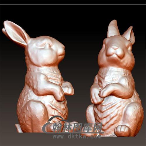 兔子模型立体圆雕图(YT-025)